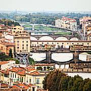 Bridges Of Florence Poster by Susan Schmitz