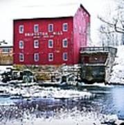 Bridgeton Mill In Winter Poster by Virginia Folkman