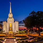 Brigham City Temple Twilight 1 Poster