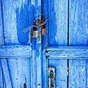 Bright Blue Door Poster