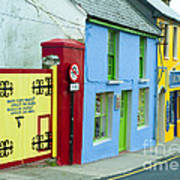 Bright Buildings In Ireland Poster