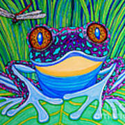 Bright Eyed Frog Poster