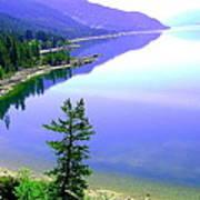 Bright Kootenay Lake Poster