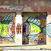 Brightly Colored Fish Mural Poster