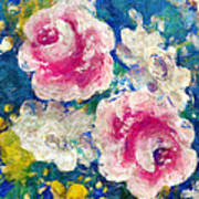 Brightly Floral Poster by Susan Leggett