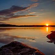 Brilliant Sunrise. Baxter Lake Nh Poster