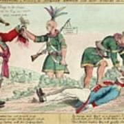 British And American Indian Raids Poster