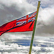 British Merchant Navy Flag Poster
