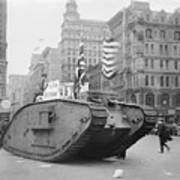 British Tank In New York Poster