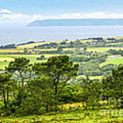 Brittany Landscape With Ocean View Poster by Elena Elisseeva