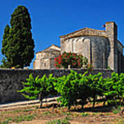 Brittany Vineyard And Monastery  Poster