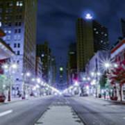 Broad Street At Night Poster
