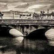 Broadway Bridge With Clouds Poster