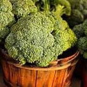 Broccoli In Baskets Poster