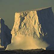 Broken Tabular Icebergs Antarctica Poster