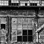Broken Windows In Black And White Poster