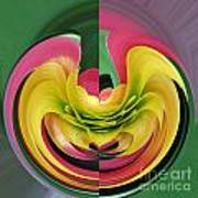 Bromiliad Abstract Poster