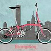 Brompton City Bike Poster by Andy Scullion