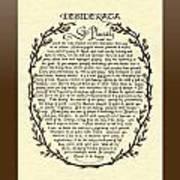 Bronze Frame Antique Desiderata Poem Poster