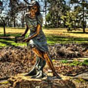 Bronze Girl At Woodward Park Poster