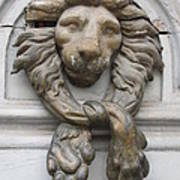 Bronze Lion Poster