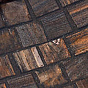Bronze Tile Squares Poster