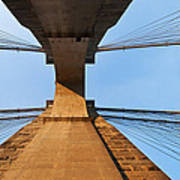 Brooklyn Bridge Abstract Poster