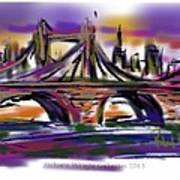 Brooklyn Bridge At Sunset Poster