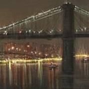 Brooklyn Bridge Cruciform Poster by Tom Shropshire