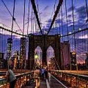 Brooklyn Bridge Evening Poster