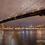 Brooklyn Bridge Lights Poster
