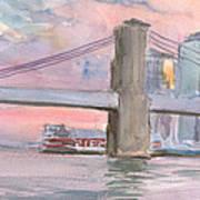 Brooklyn Bridge Sunset 2013 Poster