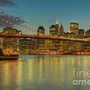 Brooklyn Bridge Twilight Poster