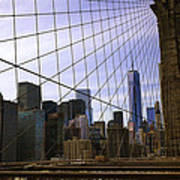 Brooklyn Bridge View Poster