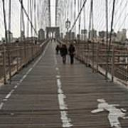 Brooklyn Bridge Walkway Poster