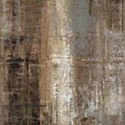 Slender - Grey And Brown Abstract Art Painting Poster