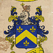 Brown Coat Of Arms - England Poster