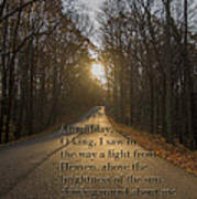 Brown County State Park Nashville Indiana Biblical Verse Poster