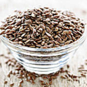 Brown Flax Seed Poster
