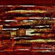 Brown Red And Golds Abstract Poster