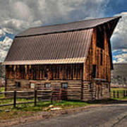 Brown Roof Barn Poster