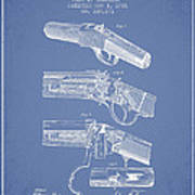 Browning Rifle Patent Drawing From 1921 - Light Blue Poster
