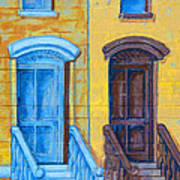 Brownstone Mural Art Poster