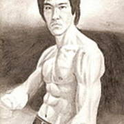 Bruce Lee Poster by Michael Mestas