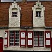 Bruges Houses Poster