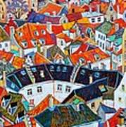 Bruges Rooftops Poster
