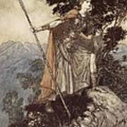 Brunnhilde From The Rhinegold And The Valkyrie Poster by Arthur Rackham