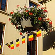 Brussels Belgium - Flowers Flags Football Poster
