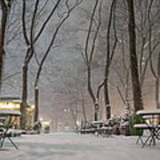 Bryant Park - Winter Snow Wonderland - Poster