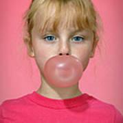 Bubble Gum Pink Poster